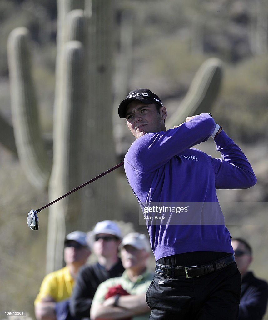 Martin Kaymer of Germany hits from the 17th tee box during the second round of the World Golf Championships-Accenture Match Play Championship at The Ritz-Carlton Golf Club, Dove Mountain on February 24, 2011 in Marana, Arizona.