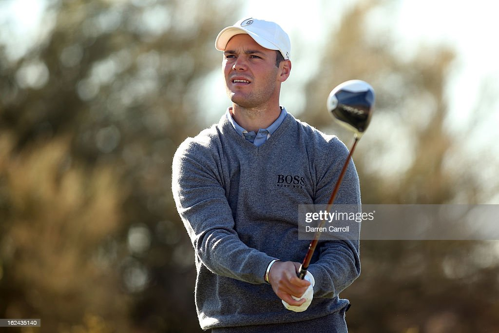 Martin Kaymer of Germany hits his tee shot during the third round of the World Golf Championships - Accenture Match Play at the Golf Club against Hunter Mahan at Dove Mountain on February 23, 2013 in Marana, Arizona.