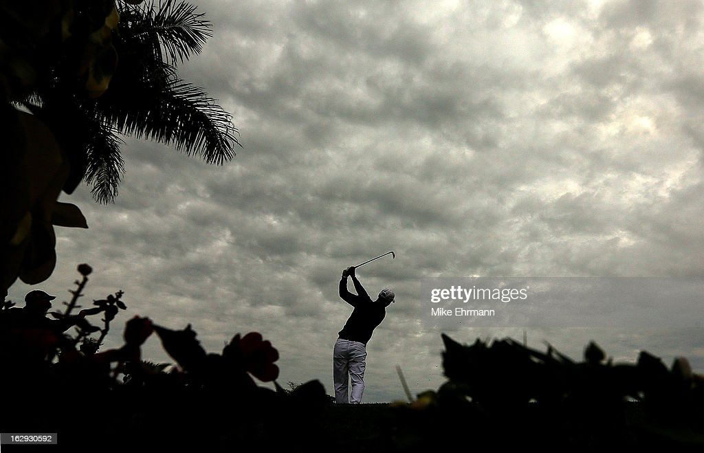 Martin Kaymer of Germany hits his tee shot on the 15th hole during the second round of the Honda Classic at PGA National Resort and Spa on March 1, 2013 in Palm Beach Gardens, Florida.