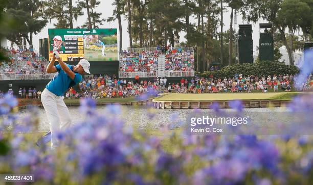 Martin Kaymer of Germany hits his tee shot on the 17th hole during the third round of THE PLAYERS Championship on the stadium course at TPC Sawgrass...