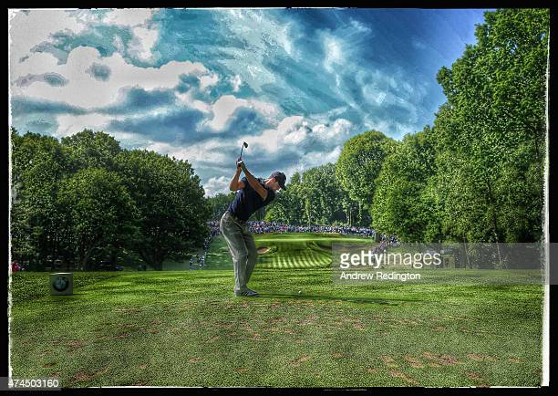 Martin Kaymer of Germany hits his tee shot on the 2nd hole during day 3 of the BMW PGA Championship at Wentworth on May 23 2015 in Virginia Water...