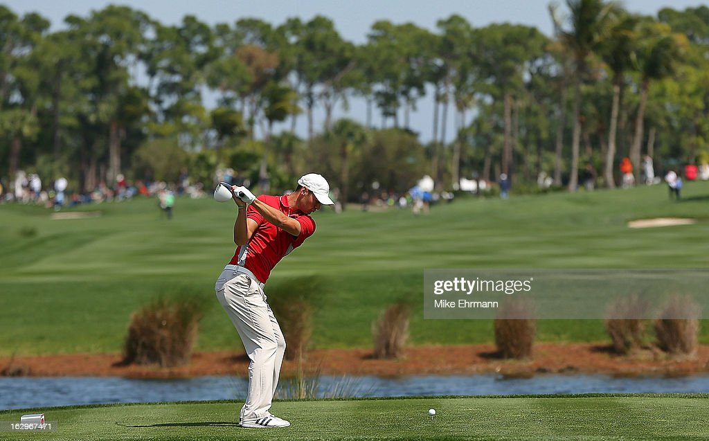 Martin Kaymer of Germany hits his tee shot on the sixth hole during the third round of the Honda Classic at PGA National Resort and Spa on March 2, 2013 in Palm Beach Gardens, Florida.