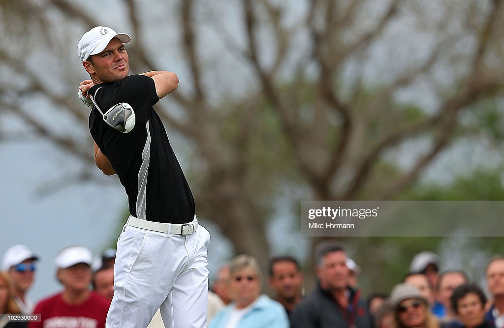 Martin Kaymer of Germany hits his tee shot on the tenth hole during the second round of the Honda Classic at PGA National Resort and Spa on March 1, 2013 in Palm Beach Gardens, Florida.