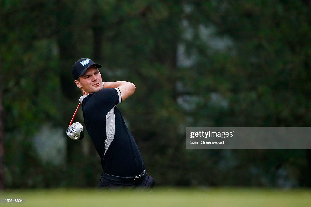 Martin Kaymer of Germany hits his tee shot on the tenth hole during the second round of the 114th U.S. Open at Pinehurst Resort & Country Club, Course No. 2 on June 13, 2014 in Pinehurst, North Carolina.