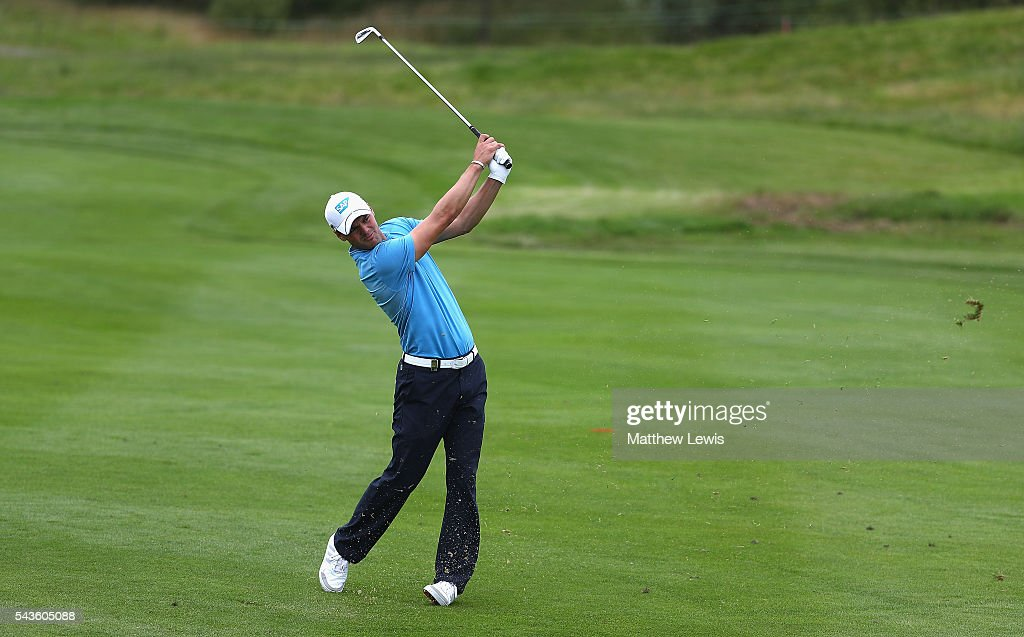 Martin Kaymer of Germany in action during a pro-am round ahead of the 100th Open de France at Le Golf National on June 29, 2016 in Paris, France.