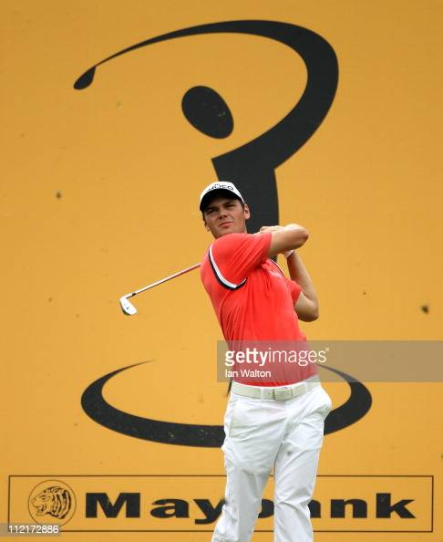 Martin Kaymer of Germany in action during the first round of the Maybank Malaysian Open at Kuala Lumpur Golf Country Club on April 14 2011 in Kuala...