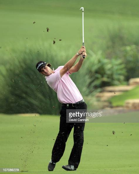 Martin Kaymer of Germany in action during the Pro Am prior to the start of the Dubai World Championship on the Earth Course Jumeirah Golf Estates on...