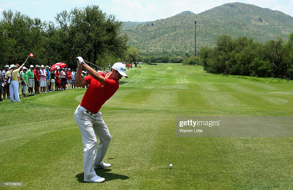 Martin Kaymer of Germany in action during the second round of the Nedbank Golf Challenge at the Gary Player Country Club on November 30, 2012 in Sun City, South Africa.