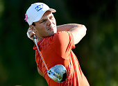 Martin Kaymer of Germany in action during the second round of the Omega Dubai Desert Classic at the Emirates Golf Club on January 30 2015 in Dubai...