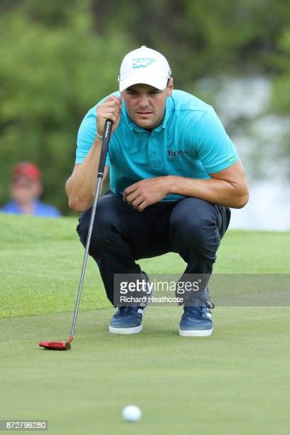 Martin Kaymer of Germany lines up a putt on the 10th green during the third round of the Nedbank Golf Challenge at Gary Player CC on November 11 2017...