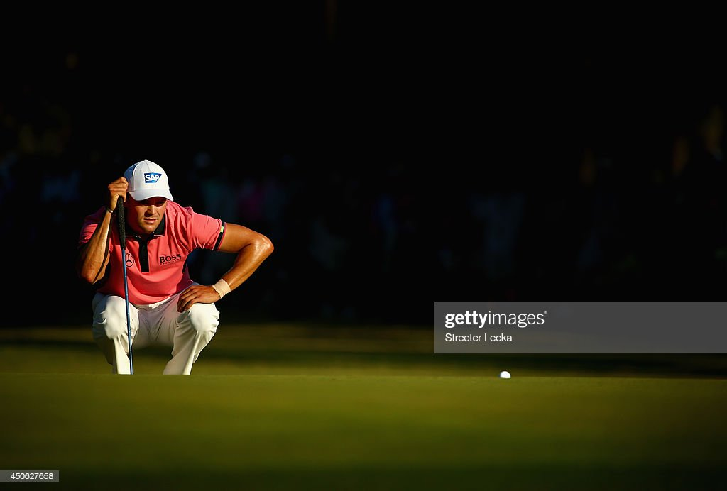 <a gi-track='captionPersonalityLinkClicked' href=/galleries/search?phrase=Martin+Kaymer&family=editorial&specificpeople=2143733 ng-click='$event.stopPropagation()'>Martin Kaymer</a> of Germany lines up his putt on the 15th green during the third round of the 114th U.S. Open at Pinehurst Resort & Country Club, Course No. 2 on June 14, 2014 in Pinehurst, North Carolina.