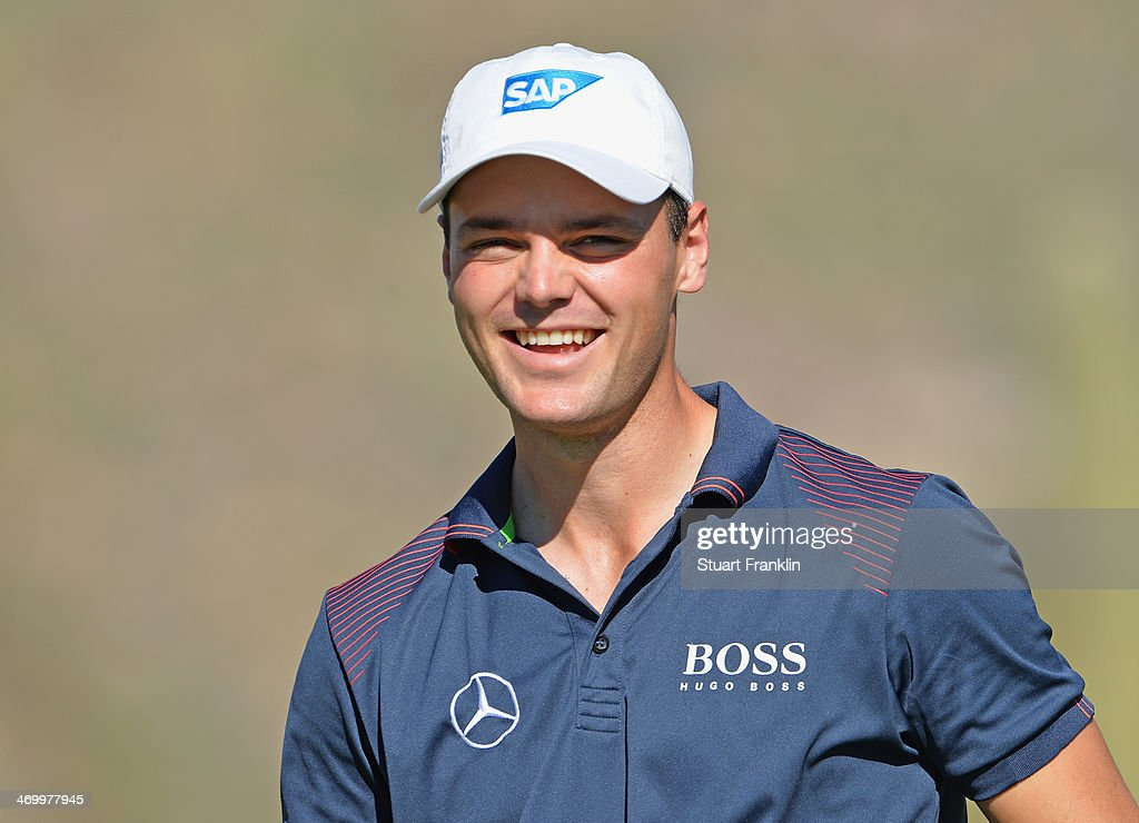 <a gi-track='captionPersonalityLinkClicked' href=/galleries/search?phrase=Martin+Kaymer&family=editorial&specificpeople=2143733 ng-click='$event.stopPropagation()'>Martin Kaymer</a> of Germany looks happy during practice prior to the start of the World Golf Championships - Accenture Match Play at the Golf Club at Dove Mountain on February 17, 2014 in Marana, Arizona.