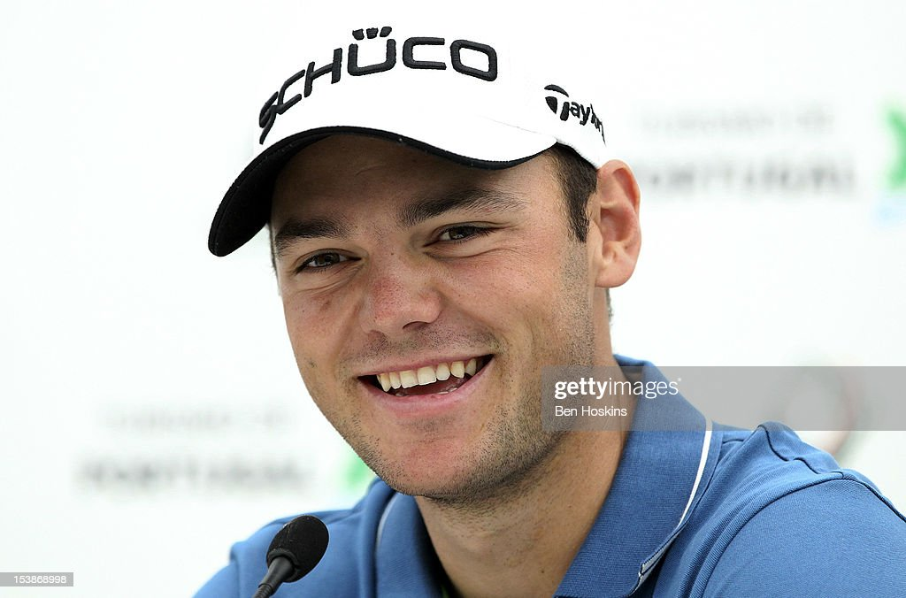 Martin Kaymer of Germany looks on during a press conference at the pro-am prior to the start of the Portugal Masters at the Victoria golf course at Villamoura on October 10, 2012 in Faro, Portugal.