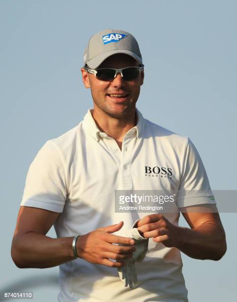 Martin Kaymer of Germany looks on from the 14th tee during the ProAm prior to the DP World Tour Championship at Jumeirah Golf Estates on November 14...