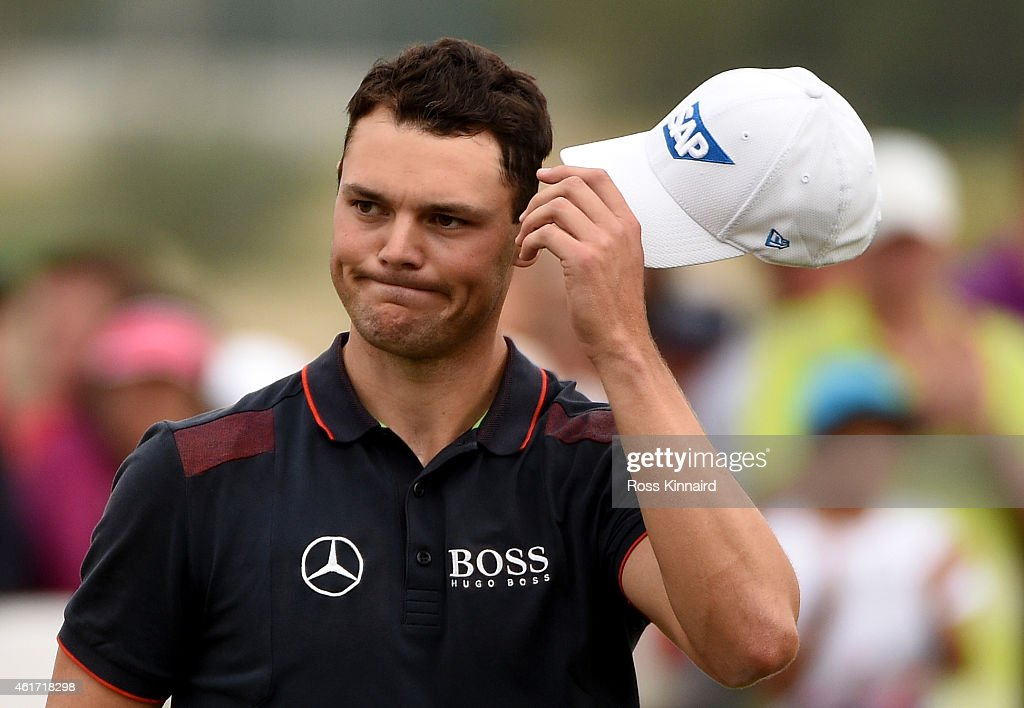 <a gi-track='captionPersonalityLinkClicked' href=/galleries/search?phrase=Martin+Kaymer&family=editorial&specificpeople=2143733 ng-click='$event.stopPropagation()'>Martin Kaymer</a> of Germany on the 18th green during the final round of the Abu Dhabi HSBC Golf Championship at the Abu Dhabi Golf Club on January 18, 2015 in Abu Dhabi, United Arab Emirates.