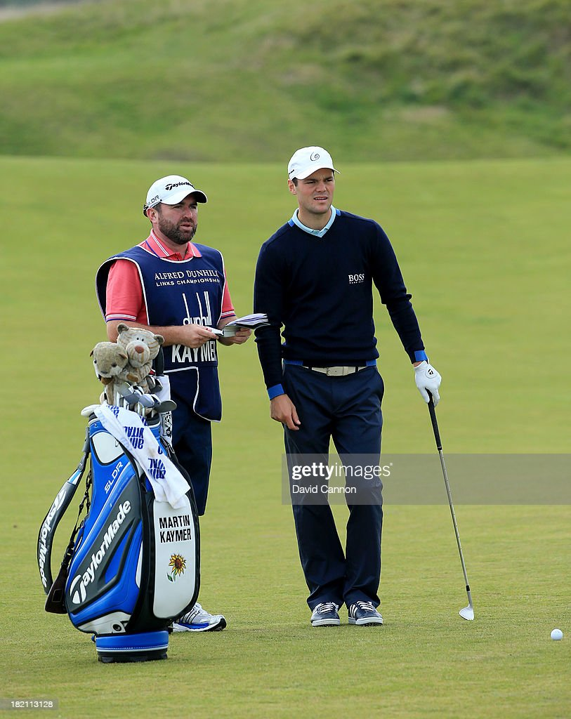 <a gi-track='captionPersonalityLinkClicked' href=/galleries/search?phrase=Martin+Kaymer&family=editorial&specificpeople=2143733 ng-click='$event.stopPropagation()'>Martin Kaymer</a> of Germany on the third hole during the third round of the Alfred Dunhill Links Championship on The Old Course, at St Andrews on September 28, 2013 in St Andrews, Scotland.