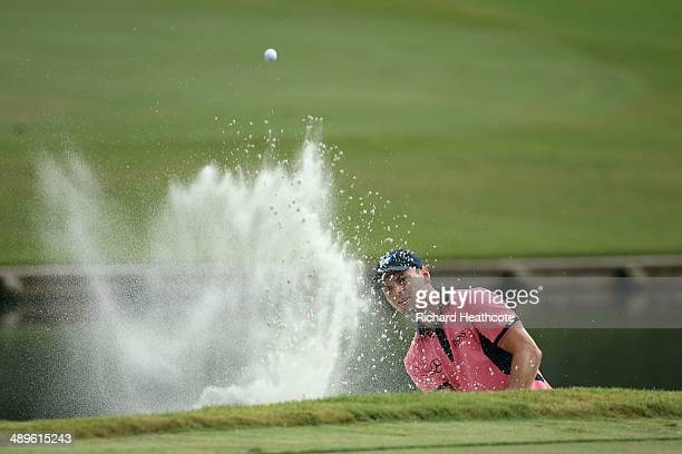 Martin Kaymer of Germany plays a bunker shot on the 11th hole during the final round of THE PLAYERS Championship on The Stadium Course at TPC...