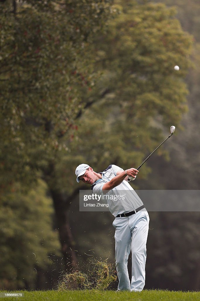 Martin Kaymer of Germany plays a shot during the final round of the WGC - HSBC Champions at the Sheshan International Golf Club on November 3, 2013 in Shanghai, China.