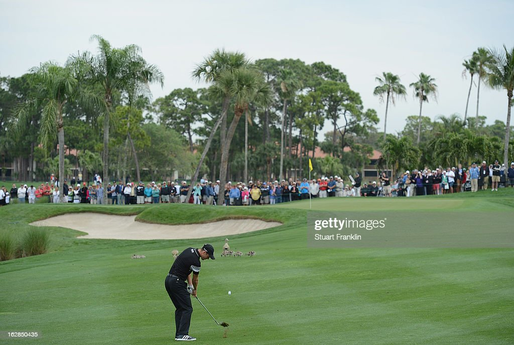 Martin Kaymer of Germany plays a shot during the first round of the Honda Classic on February 28, 2013 in Palm Beach Gardens, Florida.
