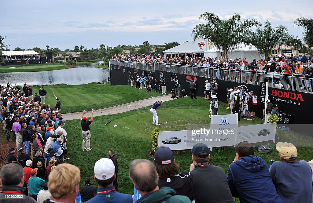 Martin Kaymer of Germany plays a shot on the 17th hole during the second round of the Honda Classic on March 1, 2013 in Palm Beach Gardens, Florida.