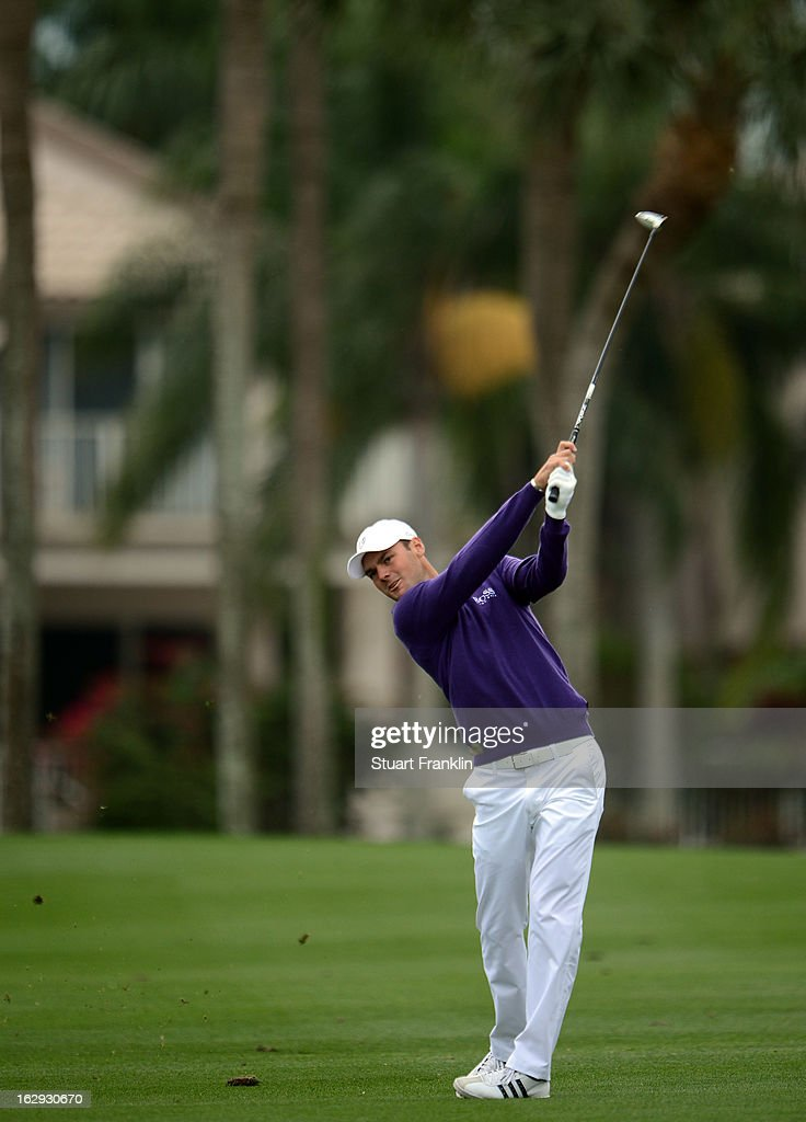 Martin Kaymer of Germany plays a shot on the 18th hole during the second round of the Honda Classic on March 1, 2013 in Palm Beach Gardens, Florida.