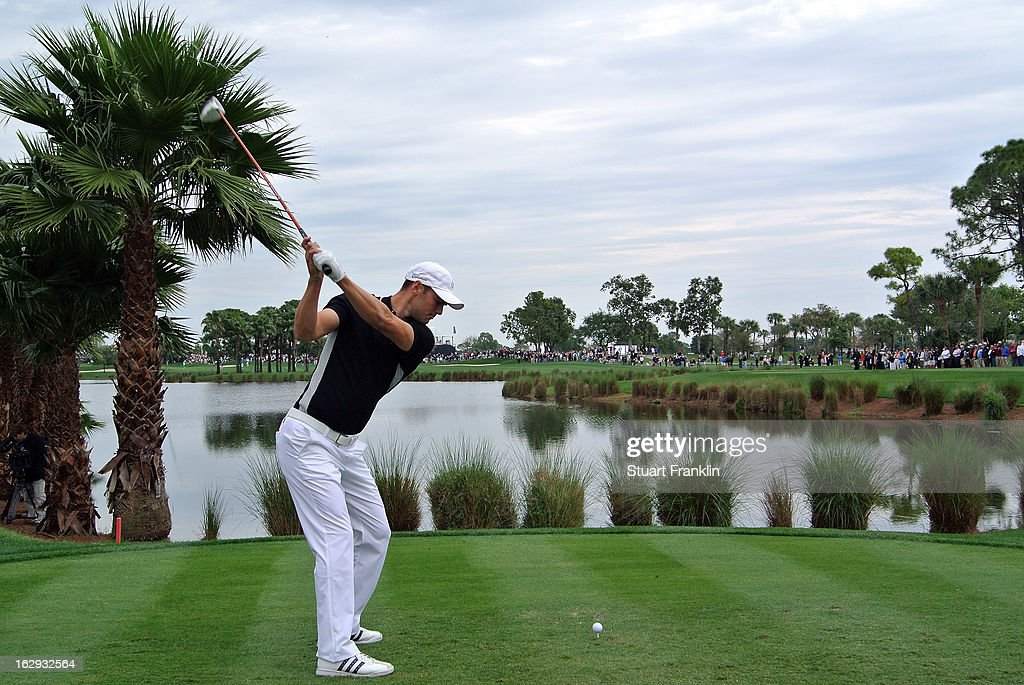 Martin Kaymer of Germany plays a shot on the nineth hole during the second round of the Honda Classic on March 1, 2013 in Palm Beach Gardens, Florida.