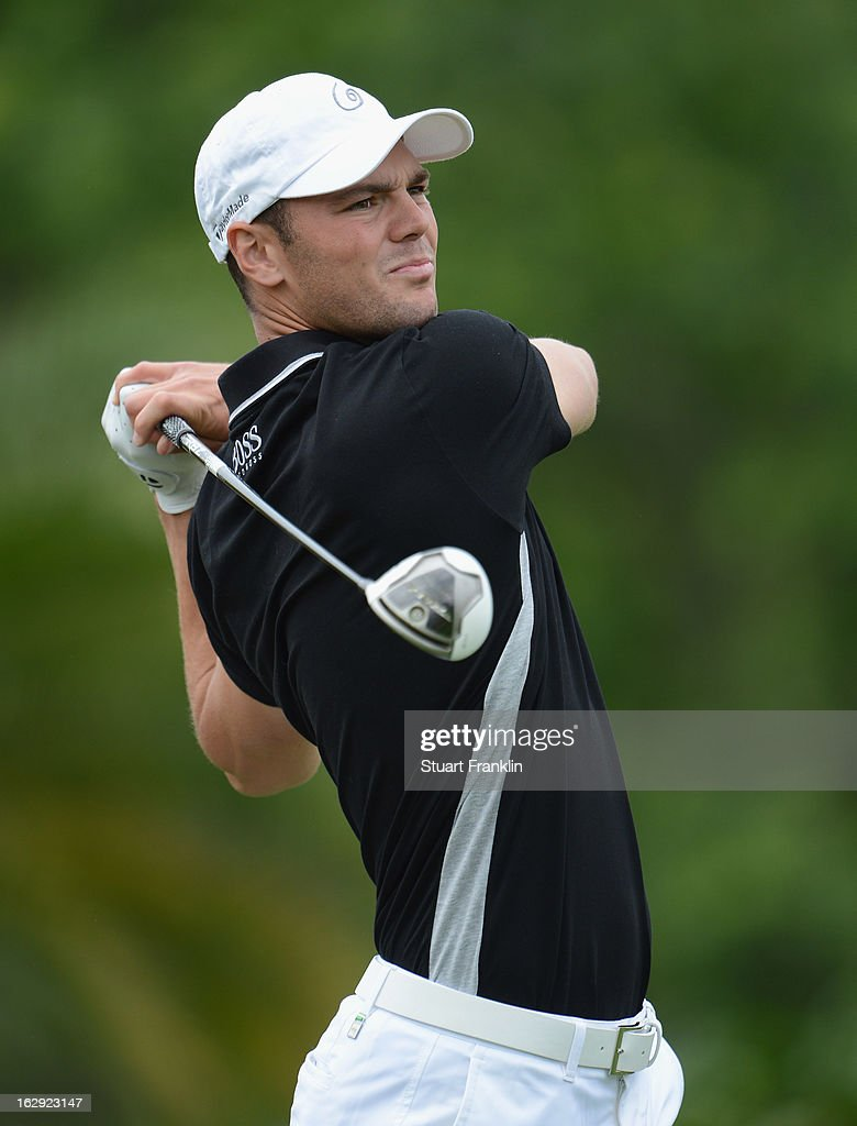 Martin Kaymer of Germany plays a shot on the seventh hole during the second round of the Honda Classic on March 1, 2013 in Palm Beach Gardens, Florida.