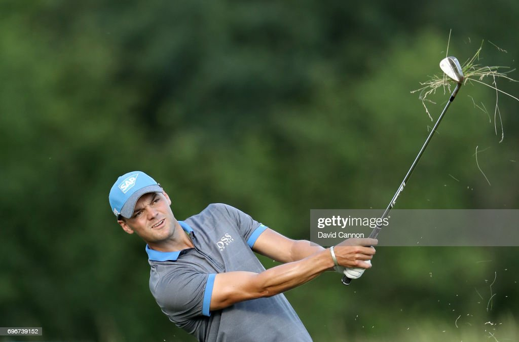 Martin Kaymer of Germany plays his second shot on the par 5, 15th hole during the second round of the 117th US Open Championship at Erin Hills on June 16, 2017 in Hartford, Wisconsin.