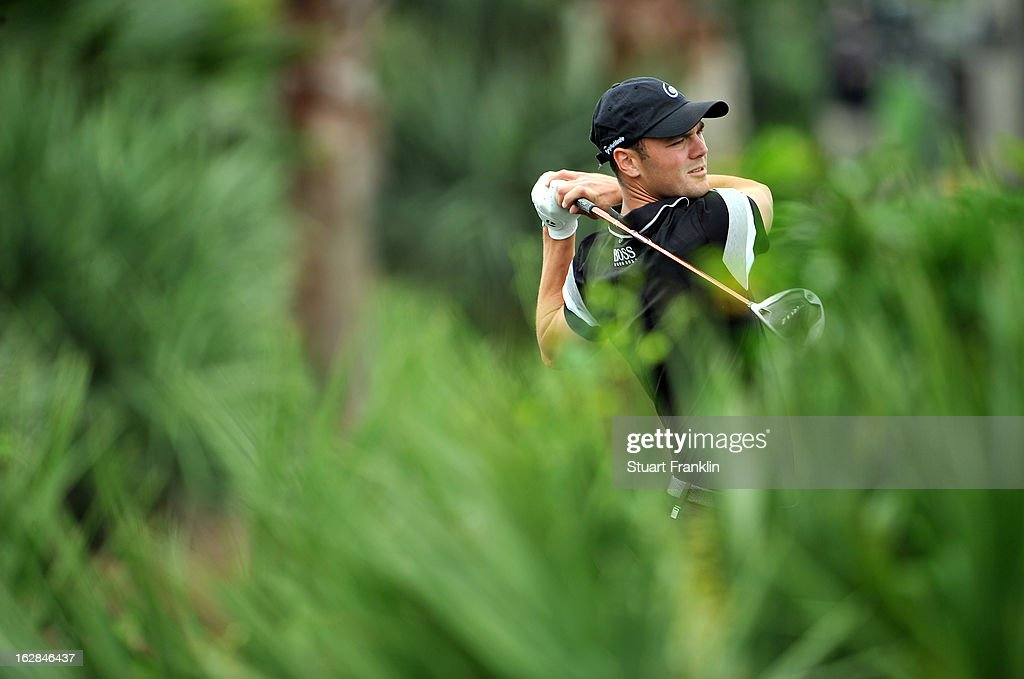 Martin Kaymer of Germany plays his tee shot on the second hole during the first round of the Honda Classic on February 28, 2013 in Palm Beach Gardens, Florida.