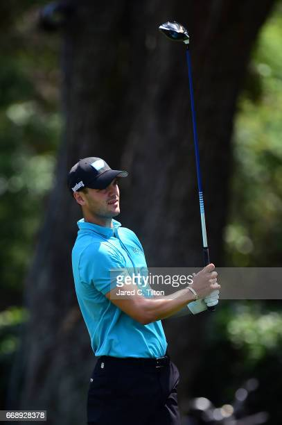 Martin Kaymer of Germany plays his tee shot on the third hole during the third round of the 2017 RBC Heritage at Harbour Town Golf Links on April 15...