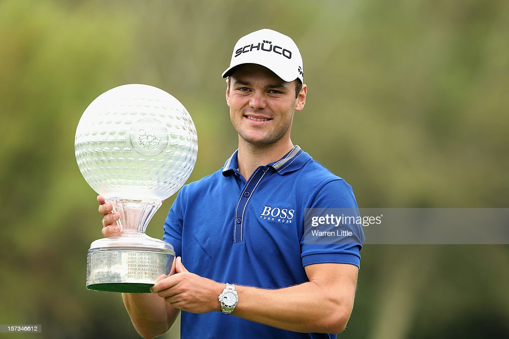 Martin Kaymer of Germany poses with the trophy after winning the Nedbank Golf Challenge at the Gary Player Country Club on December 2, 2012 in Sun City, South Africa.