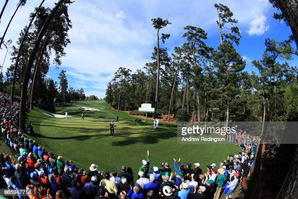 Martin Kaymer of Germany putts on the tenth green during the second round of the 2017 Masters Tournament at Augusta National Golf Club on April 7...