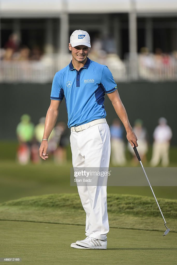 Martin Kaymer of Germany reacts to missing a birdie putt on the 17th hole island green during the third round of THE PLAYERS Championship on THE PLAYERS Stadium Course at TPC Sawgrass on May 10, 2014 in Ponte Vedra Beach, Florida.