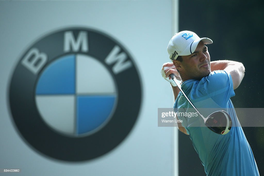 <a gi-track='captionPersonalityLinkClicked' href=/galleries/search?phrase=Martin+Kaymer&family=editorial&specificpeople=2143733 ng-click='$event.stopPropagation()'>Martin Kaymer</a> of Germany tees off during day one of the BMW PGA Championship at Wentworth on May 26, 2016 in Virginia Water, England.