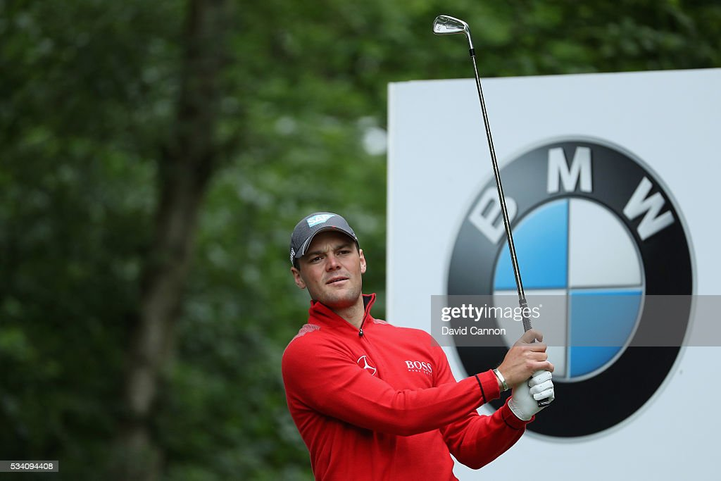 <a gi-track='captionPersonalityLinkClicked' href=/galleries/search?phrase=Martin+Kaymer&family=editorial&specificpeople=2143733 ng-click='$event.stopPropagation()'>Martin Kaymer</a> of Germany tees off during the Pro-Am prior to the BMW PGA Championship at Wentworth on May 25, 2016 in Virginia Water, England.