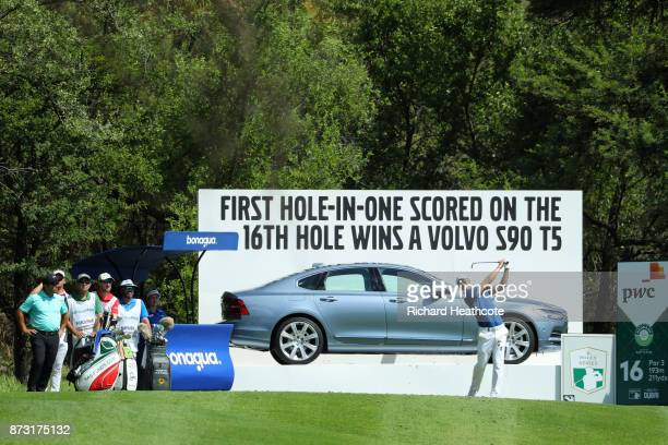 Martin Kaymer of Germany tees off on the 16th hole during the final round of the Nedbank Golf Challenge at Gary Player CC on November 12 2017 in Sun...