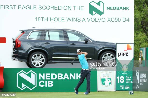 Martin Kaymer of Germany tees off on the 18th hole during the third round of the Nedbank Golf Challenge at Gary Player CC on November 11 2017 in Sun...