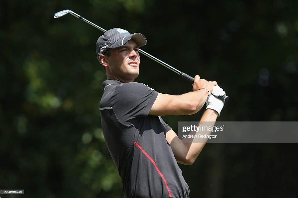 <a gi-track='captionPersonalityLinkClicked' href=/galleries/search?phrase=Martin+Kaymer&family=editorial&specificpeople=2143733 ng-click='$event.stopPropagation()'>Martin Kaymer</a> of Germany tees off on the 2nd hole during day two of the BMW PGA Championship at Wentworth on May 27, 2016 in Virginia Water, England.