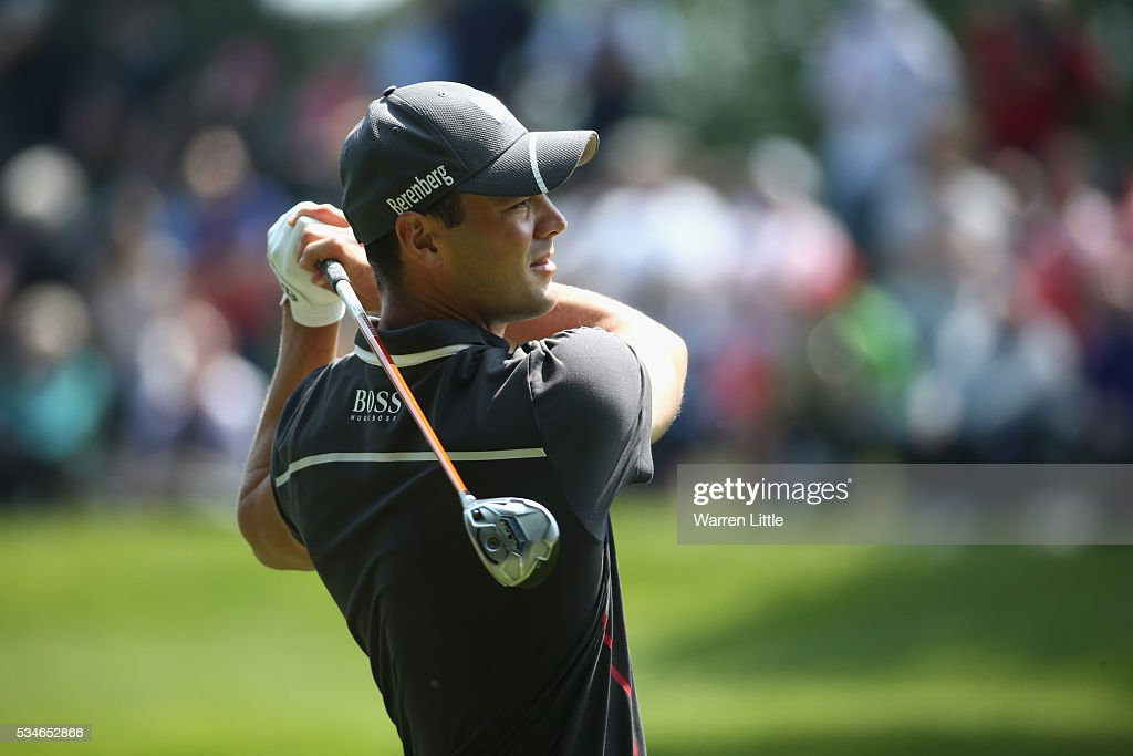 <a gi-track='captionPersonalityLinkClicked' href=/galleries/search?phrase=Martin+Kaymer&family=editorial&specificpeople=2143733 ng-click='$event.stopPropagation()'>Martin Kaymer</a> of Germany tees off on the 3rd hole during day two of the BMW PGA Championship at Wentworth on May 27, 2016 in Virginia Water, England.