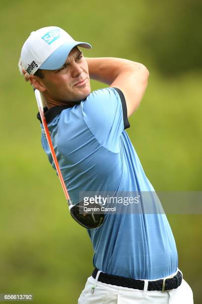 Martin Kaymer of Germany tees off on the 3rd hole of his match during round one of the World Golf ChampionshipsDell Technologies Match Play at the...