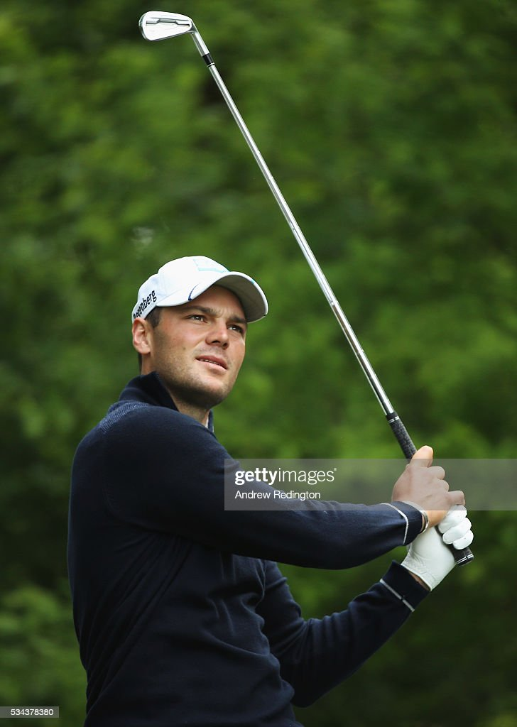 Martin Kaymer of Germany tees off on the 5th hole during day one of the BMW PGA Championship at Wentworth on May 26, 2016 in Virginia Water, England.