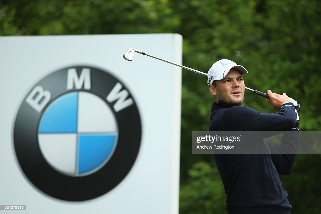 <a gi-track='captionPersonalityLinkClicked' href=/galleries/search?phrase=Martin+Kaymer&family=editorial&specificpeople=2143733 ng-click='$event.stopPropagation()'>Martin Kaymer</a> of Germany tees off on the 5th hole during day one of the BMW PGA Championship at Wentworth on May 26, 2016 in Virginia Water, England.