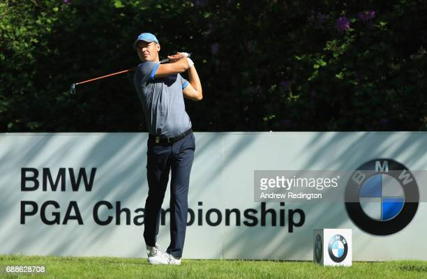 Martin Kaymer of Germany tees off on the 7th hole during day two of the BMW PGA Championship at Wentworth on May 26 2017 in Virginia Water England