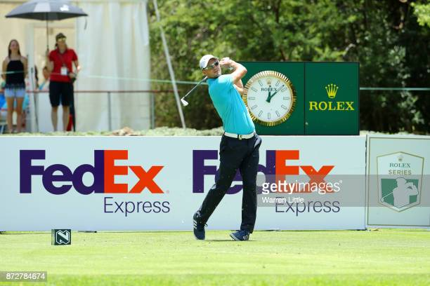 Martin Kaymer of Germany tees off on the 7th hole during the third round of the Nedbank Golf Challenge at Gary Player CC on November 11 2017 in Sun...