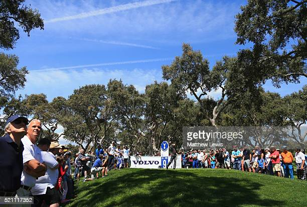 Martin Kaymer of Germany tees off on the 9th hole during day one of the Open de Espana at Real Club Valderrama on April 14 2016 in Sotogrande Spain