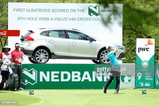 Martin Kaymer of Germany tees off on the 9th hole during the third round of the Nedbank Golf Challenge at Gary Player CC on November 11 2017 in Sun...