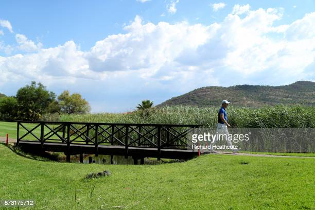 Martin Kaymer of Germany walks down the 16th hole during the final round of the Nedbank Golf Challenge at Gary Player CC on November 12 2017 in Sun...