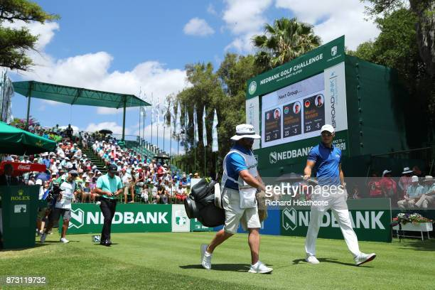Martin Kaymer of Germany walks down the 1st hole during the final round of the Nedbank Golf Challenge at Gary Player CC on November 12 2017 in Sun...