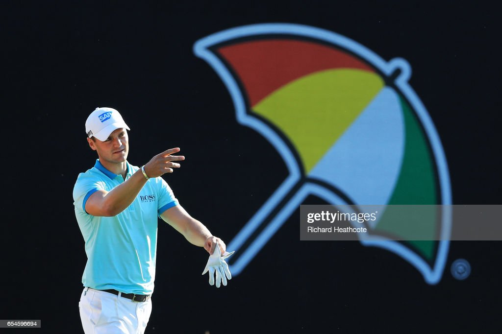 Martin Kaymer of Germany walks on the 18th hole during the second round of the Arnold Palmer Invitational Presented By MasterCard at Bay Hill Club and Lodge on March 17, 2017 in Orlando, Florida.