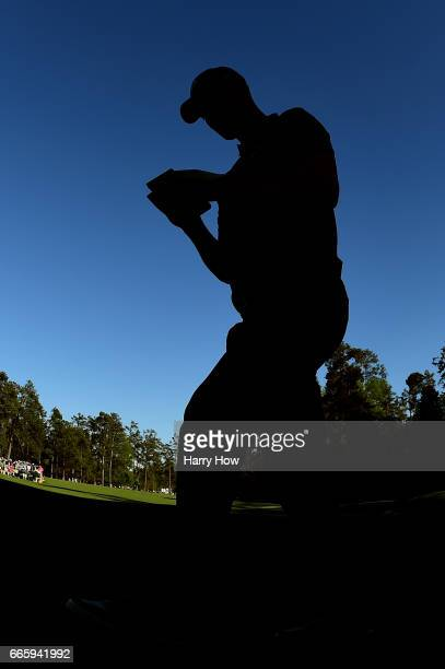 Martin Kaymer of Germany walks to the 14th hole during the second round of the 2017 Masters Tournament at Augusta National Golf Club on April 7 2017...